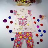 Летний костюм для девочки футболка и бриджи Турция