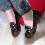 Двухцветные ооочень красивые мягкие туфли-мокасины