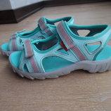Босоноги детские 20,5 см стелька голубые 32-33 рр Quechua легкие крокслайт кроксы