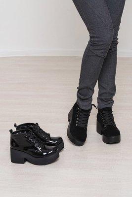 Наложенный Ботинки осень зима платформа натуральная кожа лак замша размеры  36-40 1ac36b33cb2d9