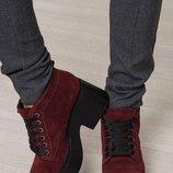 Наложенный Ботинки платформа натуральная кожа/лак/замша размеры 36-40