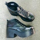 Ботинки платформа натуральная кожа/лак/замша размеры 36-40