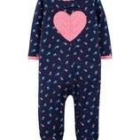 Человічок пижама Carters слип девочка, мальчик,коттон 3М, 6М, 9М