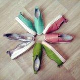 Туфли слипоны натуральная кожа/замша/лак размеры 36-41