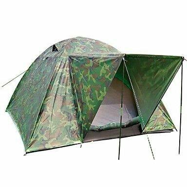 Палатка, четырех, 4, местная, туристическая, комуфляжная, двухслойная, намет, с козырьком
