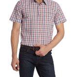в наличии мужская рубашка LC Waikiki с коротким рукавом белого цвета в красносинюю клетку
