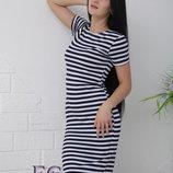 Платье тельняшка Malibu Размеры 42, 44, 46