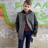 Твидовое пальто для мальчика 128-164 см