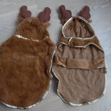 Одежда для собачки размер S лось олень новогодний костюм новый