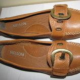 Балетки брендові шкіряні Nelson Оригінал Голандія р.39 стелька 25,5 см
