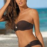 Janet Marko M-349 коричневый купальник твердые чашечки качественный пошив супер модель живые фото