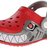 Кроксы с мигалками crocs Robo Shark р. С8-15,5См. Оригинал