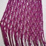 Шарф платок 220х56 см летний, нарядный шарф на плечи или осенью под куртку плащ