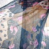Шарф платок 127 х 50 см косынка, летний, нарядный,