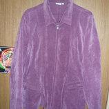 Жакет, пиджак куртка рубашка кофта из микро вельвета. Размер 14 46-48