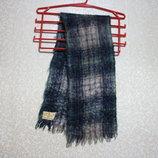 Шарф 116 х 22 см Англия, зима, мохер, made in England
