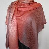 Турция Шелковый шарф принт лео палантин с бахромой размер 180х70 см