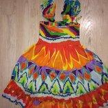Яркое платье-сарафан, подойдет беременным