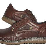 Туфли мужские кожаные модель KR Brown