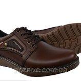 Туфли мужские кожаные Kristan Brown на шнурках