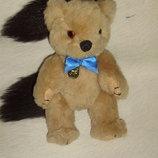 роскошный винтажный мишка медведь из Англии солома мохер состояние 21 см