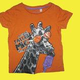 Футболка с жирафом,рост 92 см,Palomino