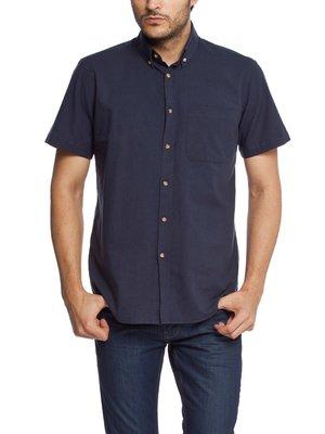 в наличии мужская рубашка LC Waikiki с коротким рукавом синего цвета
