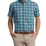 в наличии мужская рубашка LC Waikiki с коротким рукавом голубого цвета в бело-черные полоски