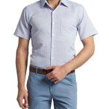 в наличии мужская рубашка LC Waikiki с коротким рукавом белого цвета в синие полоски