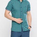 в наличии мужская рубашка LC Waikiki с коротким рукавом зеленого цвета в синюю клетку