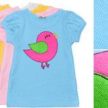 Девичья детская футболка на лето