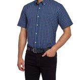 в наличии мужская рубашка LC Waikiki с коротким рукавом синего цвета в разноцветные полоски