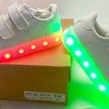 Новые Детские кроссовки со светящейся LED подошвой 24,25,26,27,28,29,30,31,32,33,34,35,36 р. Киев