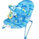 Шезлонг-Качалка Детский M 1103 голубой