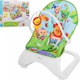 Детский шезлонг-кресло Bambi M 3251 Тропические друзья аналог Fisher-Price