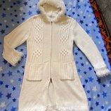 Кардиган Breeze р.50 вязанный, пальто с капюшоном