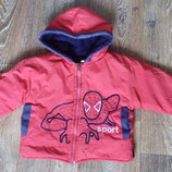 Красивая демисезонная куртка на мальчика, р.92-98