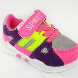 Кроссовки на липучке для девочки, розово-фиолетовые, B5138-9 Jong-Golf размеры 21, 22, 23, 24, 25