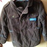 Вельветовое пальто для мальчика, демисезонное, 92р.