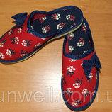 Домашние тапочки для девочек Белста с закрытым носочком р-р 30-35
