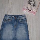Фирменная джинсовая юбка б/у