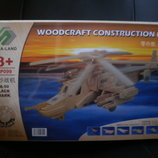 3D Деревянный конструктор. Модель Вертолет Ка-50 Черная акула