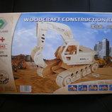 3D Деревянный конструктор. Модель Эскаватор