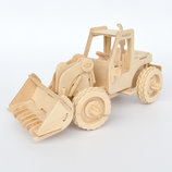 3D Деревянный конструктор. Модель Бульдозер