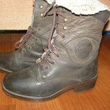 Фирменные ботинки сапоги Polaris Германия 36р., 23см кожа