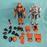 Комплект роботов, трансформеров со сменными торсами