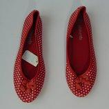Туфли балетки в горох Miss E-vie, размер 37.