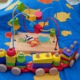 Деревянный лот развивающих игрушек