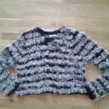 Коротенькая кофточка свитер травка