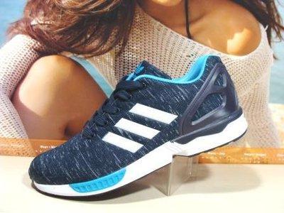 кроссовки мужские adidas zx flux синий-голуб 41р-45р